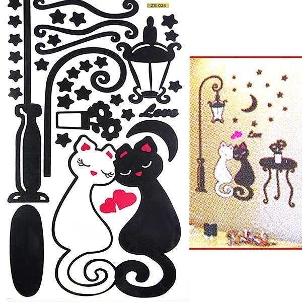 Adesivo Porta De Banheiro ~ Adesivo De Parede Gatos Apaixonados DC Magazine